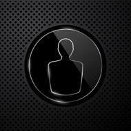 User icon on black technology background
