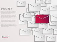 Envelope abstract background