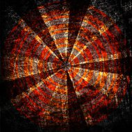 target on grunge fabric canvas texture