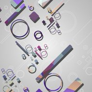 Colorful abstract circles background