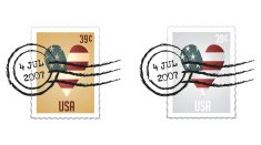 Stamp Series I - Vector stamps with postmark