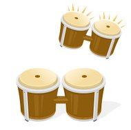 Bongo Drums Musical Instrument