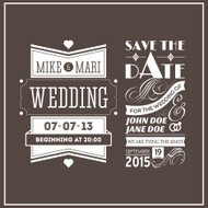 Wedding stamps brown
