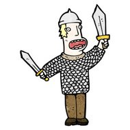 cartoon medieval warrior