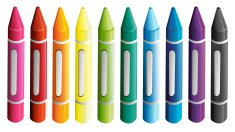 Set of colorful crayons
