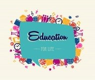 Education for life concept illustration