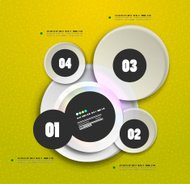 Shiny circles infographic template