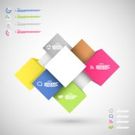 Infographic colorful cubes for data presentation