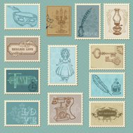 Vintage Item Stamp Set