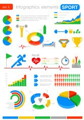 Infographics design elements. Sport fitness theme.