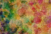 abstract colourful drops on canvas