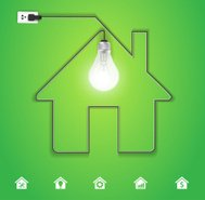 Home icon with creative light bulb idea