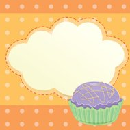 stationery with a cupcake