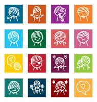 Character traits illustrated icons