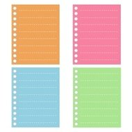 Four Color of  Lined Spiral Notepad Papers