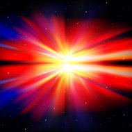 abstract dark background with stars and supernova