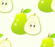 seamless pattern with green pears.