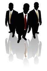 Businessmen in Black Reflection Series