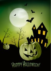 Green Halloween Design