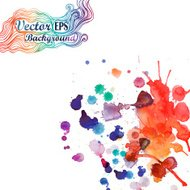 Abstract Splatter Background