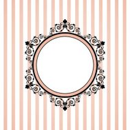 pink striped frame