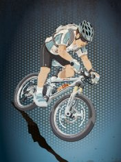 Mountainbike Sports Action Grunge Color