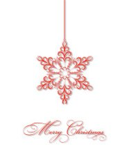 Hanging Christmas Snowflake Ornament