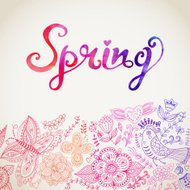 Doodle Spring Background