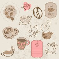 Coffee Scrapbook Elements