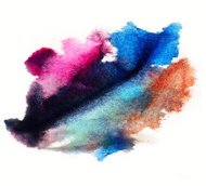watercolor purple, blue splash isolated spot handmade colored ba