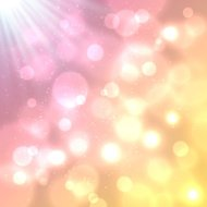 Bright colorful bokeh effect vector background