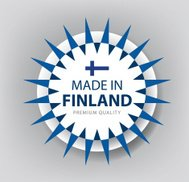 Made in Finland, seal, Flag, (Vector)