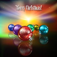 Abstract celebration background with color Christmas decorations