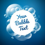 Bubbles with white circle card