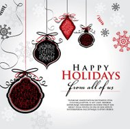 Holiday greeting design template