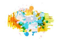 art background design with ink splatter