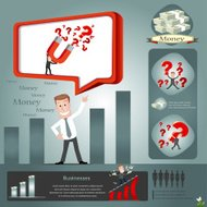Magnet for business infographics.vector illustration