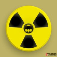 Icon radiation symbol with gas mask