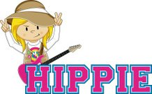 Hippie Girl Learn to Read Illustration