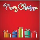 Merry Christmas greeting with gifts