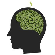 Green Environment in Head Shape, Conservationist / Eco Business