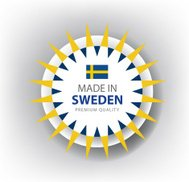 Made in Sweden, Swedish seal, Flag, (Vector)