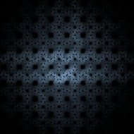 Square fractal on the black background