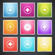 Vector set of different colorful arrows buttons