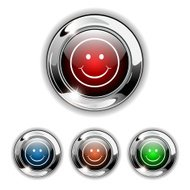 Vector Buttons With Smiley Face