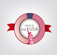 Made in USA, American seal, Flag, (Vector)