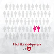 illustration of people icons, find love