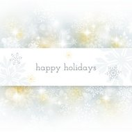 Holiday Card with Defocused Background