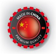 Made in CHINA, Chinese seal, Flag, (Vector)