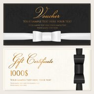 Voucher, Gift certificate / card, Coupon, Invitation template wi